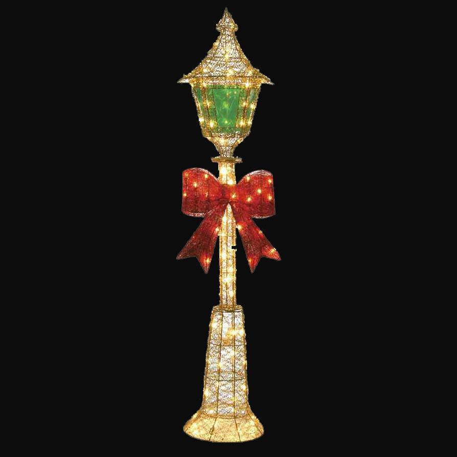 Gold Glitter Lamp Post