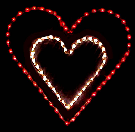 Outdoor LED Valentine heart