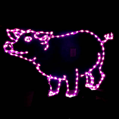 Christmas Farm decorations LED Pig